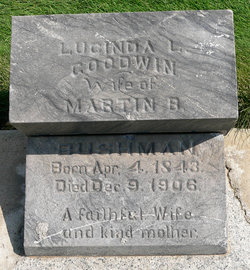 Bushman, Lucinda Ladelia b. 1843 headstone