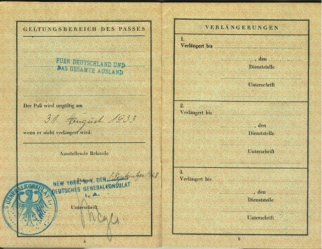 Laemmlen, Rudolf Passport 1925.4